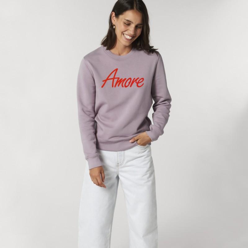Organic Amore-Sweatshirt (unisex) lilac petal