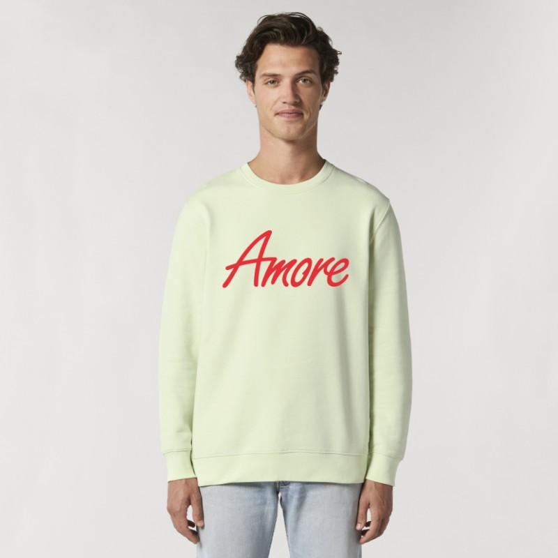 Organic Amore-Sweatshirt (unisex) stem green