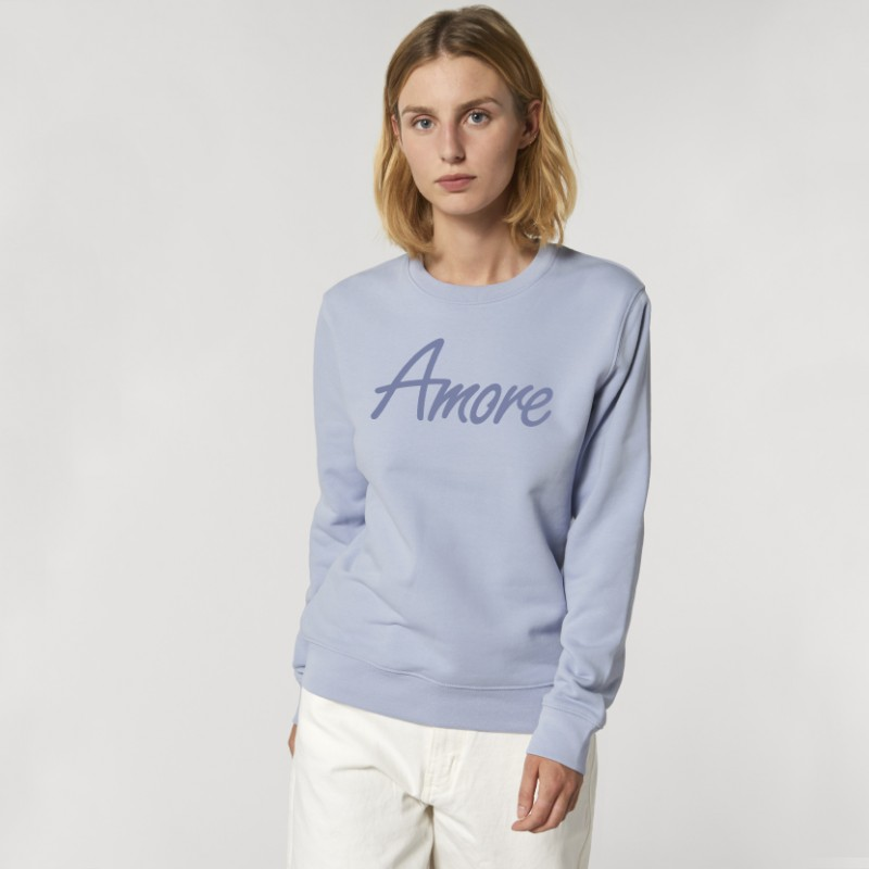 Organic Amore-Sweatshirt (unisex) serene blue