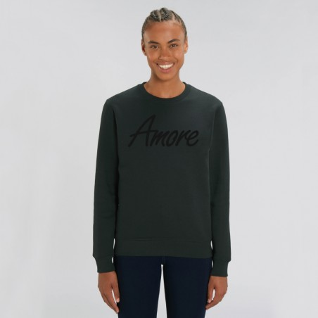 Organic Amore-Sweatshirt (unisex) black