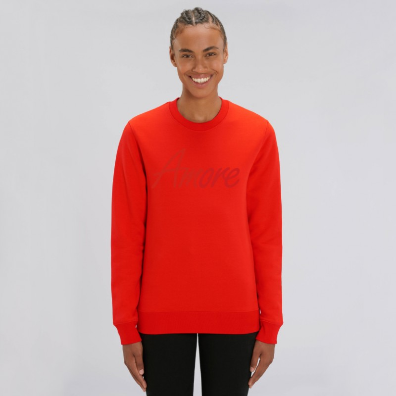 Organic Amore-Sweatshirt (unisex) bright red
