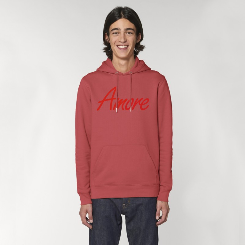 Organic Amore-Hoodie (unisex) camine red