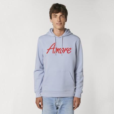 Organic Amore-Hoodie (unisex) serene blue