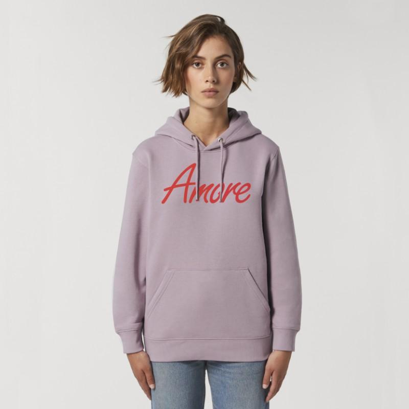 Organic Amore-Hoodie (unisex) lilac petal