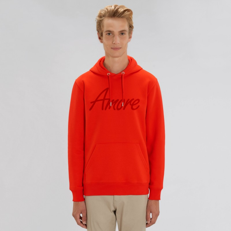 Organic Amore-Hoodie (unisex) bright red