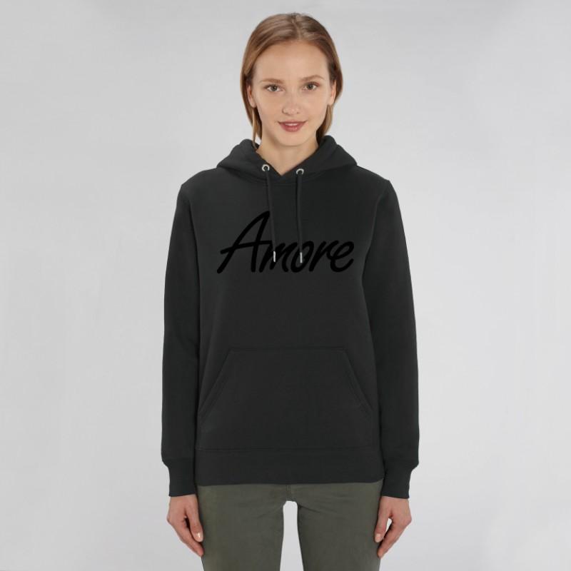 Organic Amore-Hoodie (unisex) black