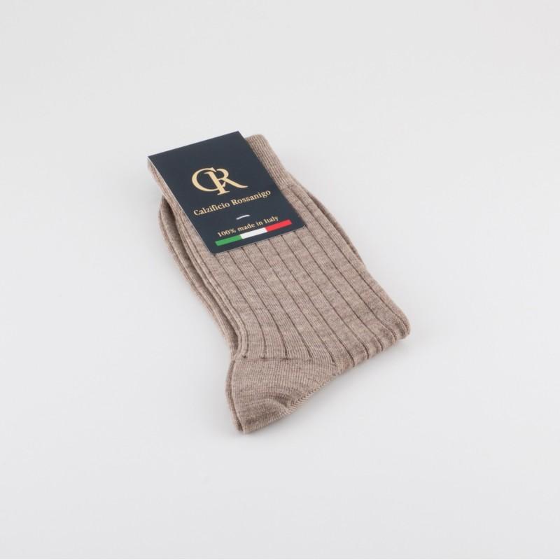 Socken aus Merinowolle, beige