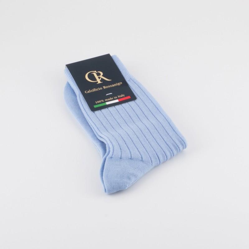 Socken aus Merinowolle, hellblau
