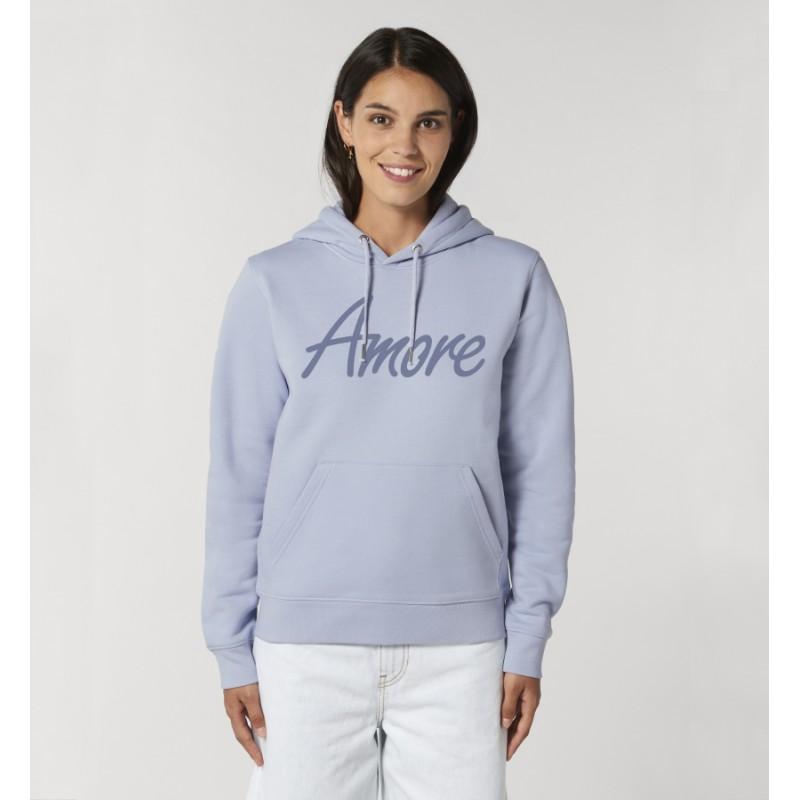 Organic Amore-Hoodie (unisex) serene blue, lack