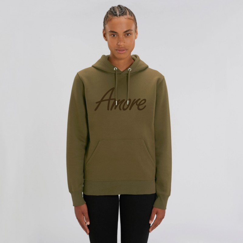 Organic Amore-Hoodie (unisex) british khaki
