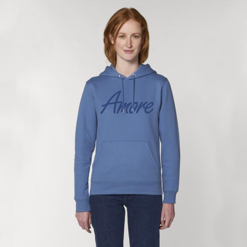 Organic Amore-Hoodie (unisex) bright blue