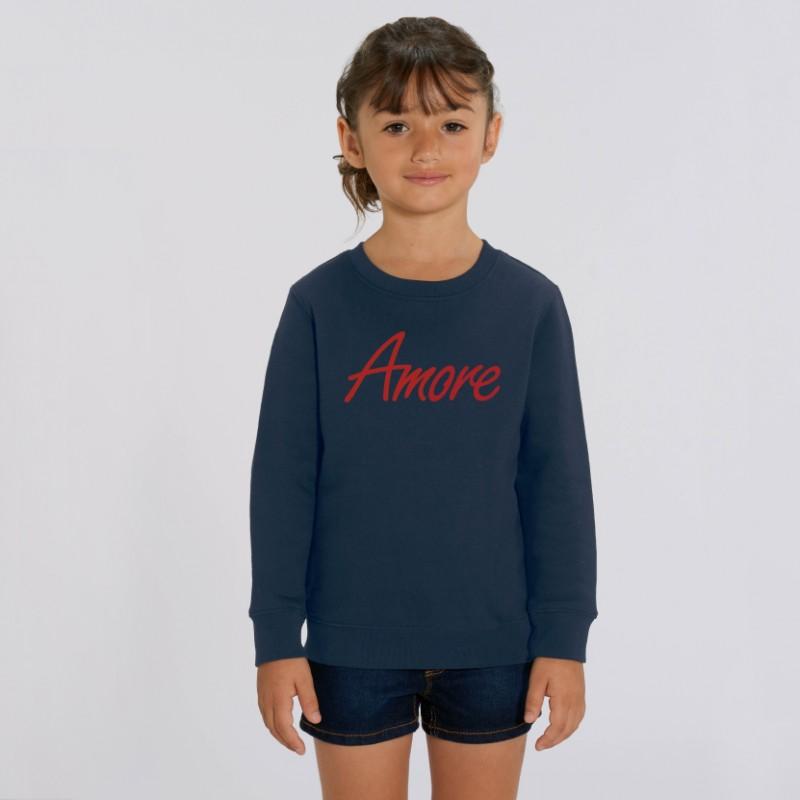 Organic Amore-Sweatshirt für Kinder, french navy