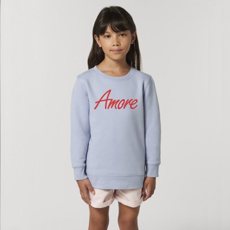 Organic Amore-Sweatshirt für Kinder, serene blue