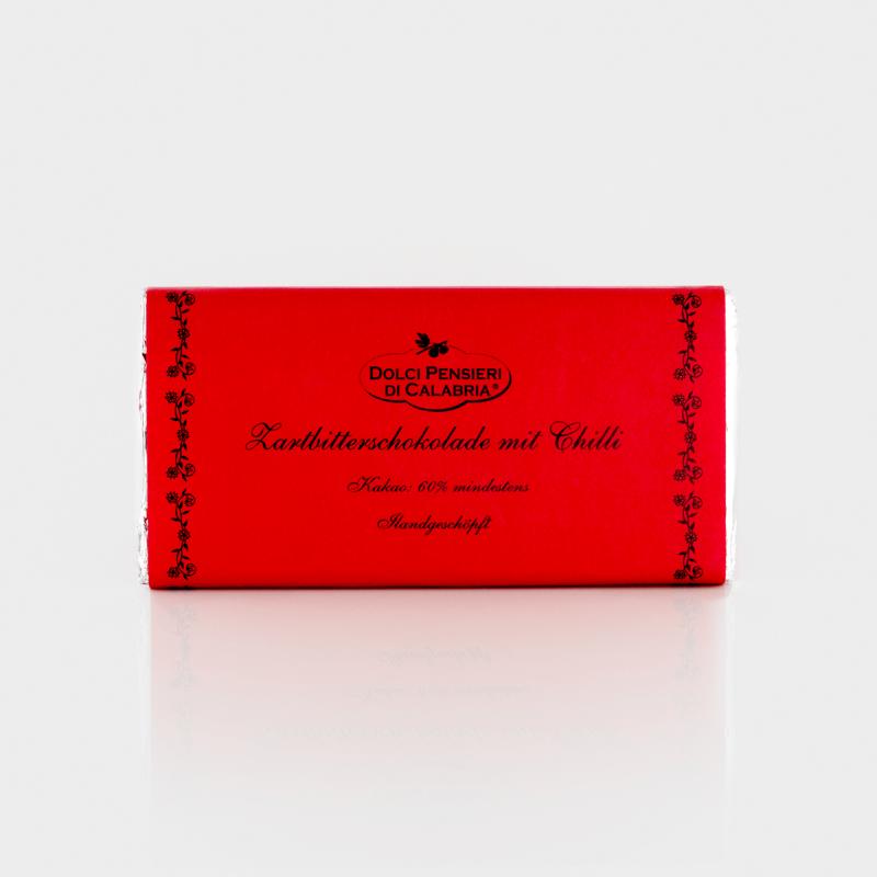 Zartbitterschokolade mit Chili von Dolci Pensieri di Calabria