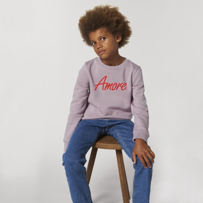 Organic Amore-Sweatshirt für Kinder, lilac petal