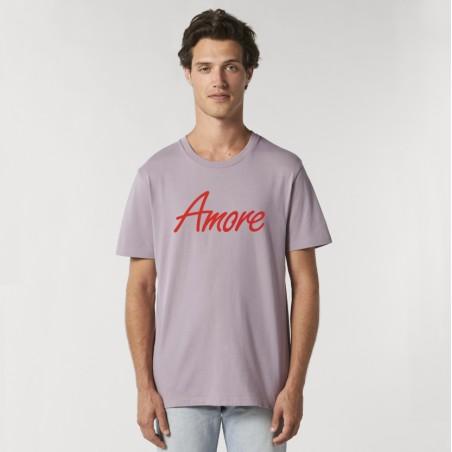 Organic Amore T-Shirt (unisex) g. dyed lilac petal