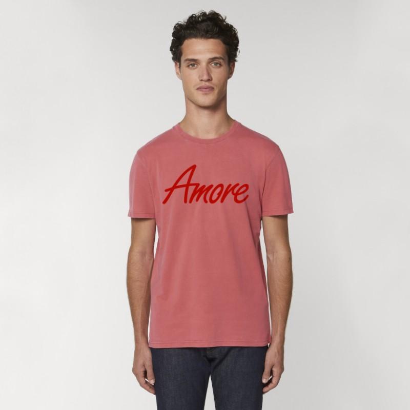 Organic Amore T-Shirt (unisex) g. dyed carmine red