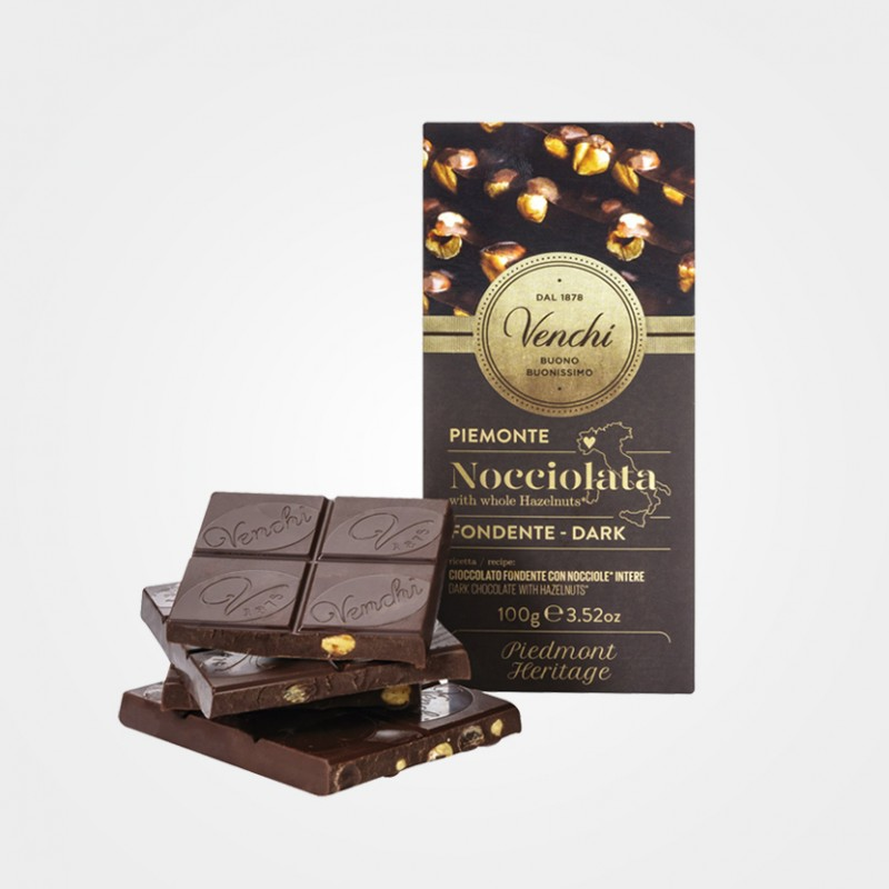 Zartbitterschokolade mit Haselnüssen von Venchi