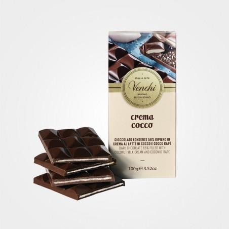 Zartbitterschokolade mit Kokosmilchcreme und Kokos von Venchi