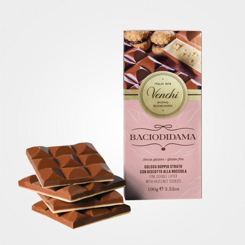 Gianduiaschokolade mit Haselnusskeksen von Venchi