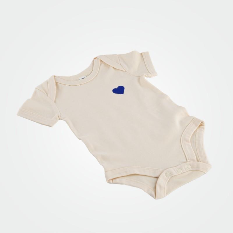 Baby-Body mit Herz, creme