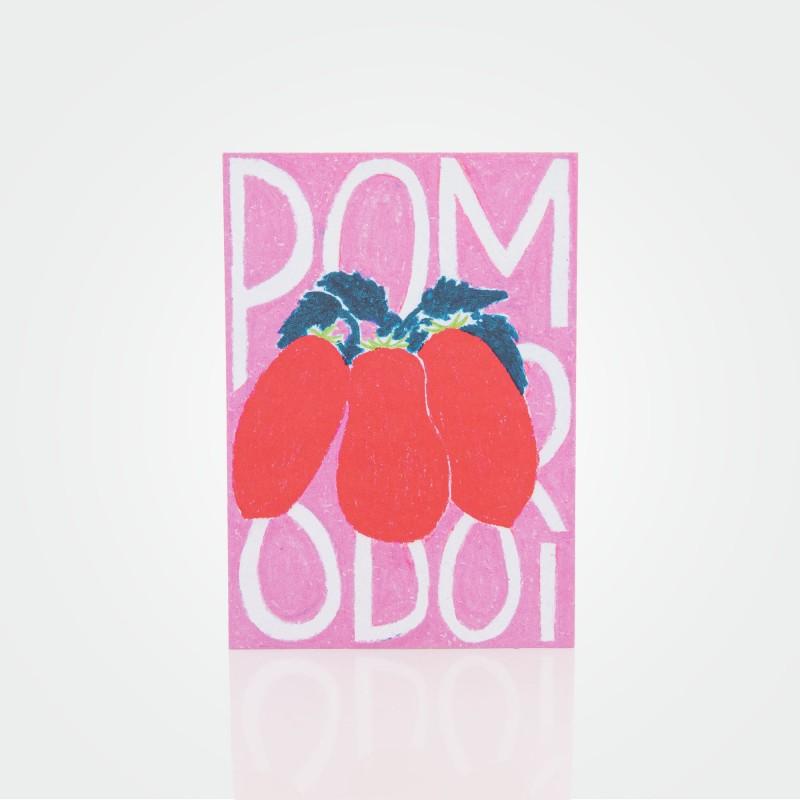 """Postkarte """"Pomodori"""" von Malena Guinet"""