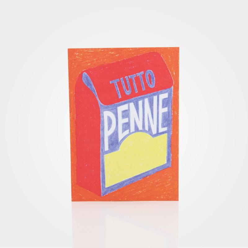 """Postkarte """"Tutto Penne"""" von Malena Guinet"""
