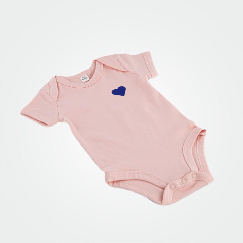 Baby-Body mit Herz, rosa