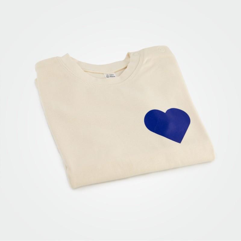 Organic Kinder T-Shirt mit Herz