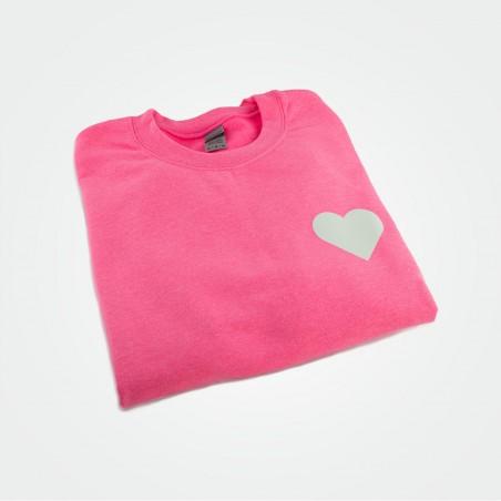 Crewneck Sweatshirt mit Herz, glow (unisex)