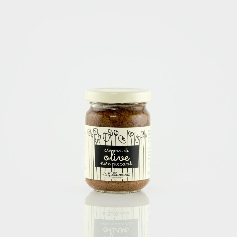 Crema di olive nere piccante (Schwarze Olivencreme)