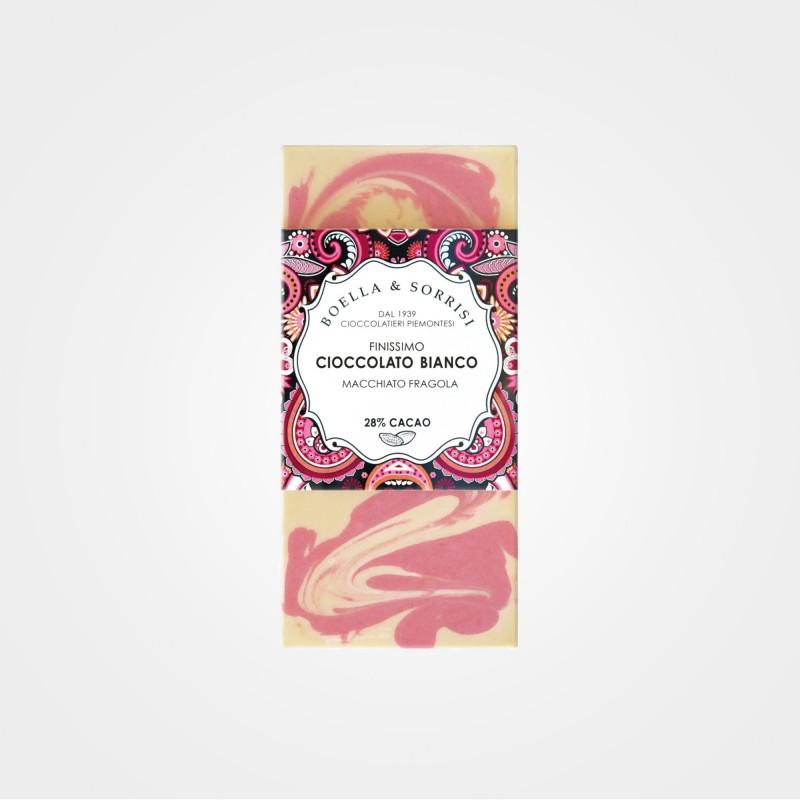 Weiße Schokolade mit Erdbeeren von Boella & Sorrisi