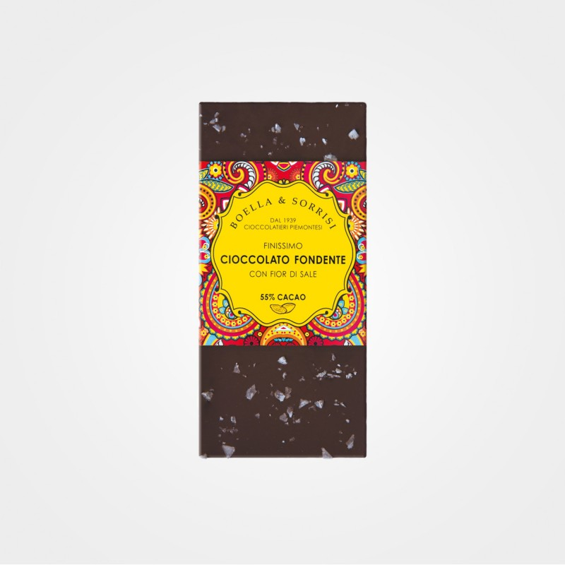 Zartbitterschokolade mit Meersalz