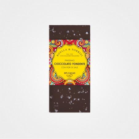 Zartbitterschokolade mit Meersalz von Boella & Sorrisi aus dem Piemont