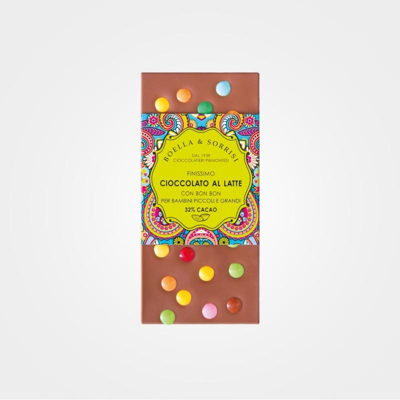 Vollmilchschokolade mit Schokolinsen von Boella & Sorrisi aus Turin
