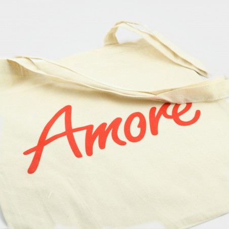 Der Amore-Jutebeutel mit langen Henkeln