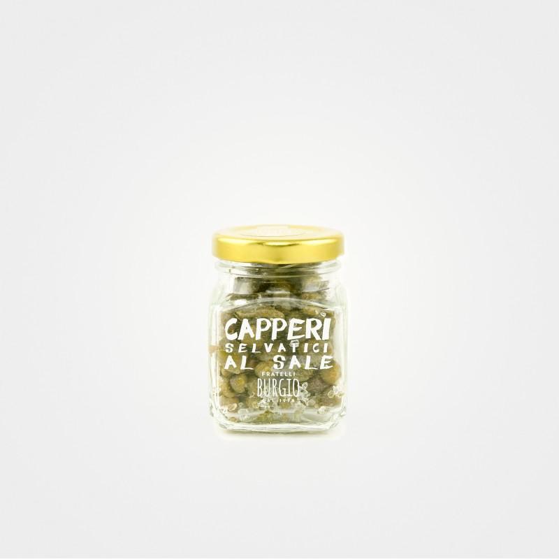 Wilde Kapern mit sizilianischem Salz aus Trapani von Fratelli Burgio aus Sizilien