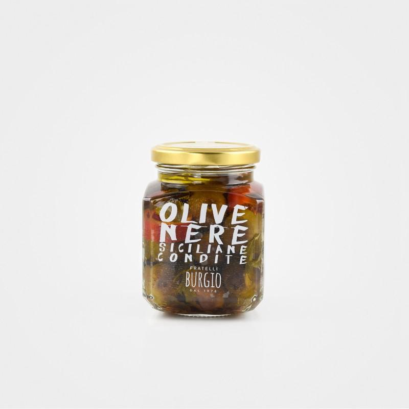 Fratelli Burgio Sizilien, Schwarze Oliven, mariniert