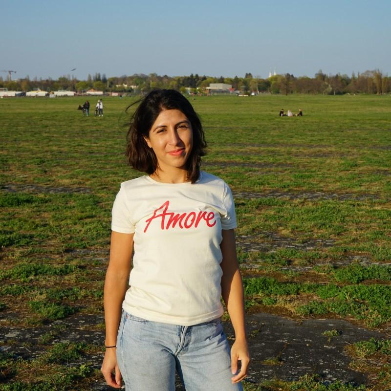 Amore T-Shirt, Frauen, creme